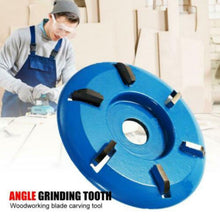 Load image into Gallery viewer, 90mm Diameter 16mm Bore Three and Six Teeth Woodworking Turbo Tea Tray Digging Wood Carving Disc Tool Milling Cutter