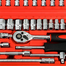 Load image into Gallery viewer, 46pcs Wrench Socket Set Hardware Spanner Screwdriver Ratchet Wrench Set Kit Car Repairing Tools Combination Hand Tool Sets