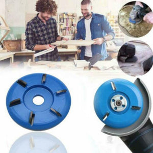 90mm Diameter 16mm Bore Three and Six Teeth Woodworking Turbo Tea Tray Digging Wood Carving Disc Tool Milling Cutter