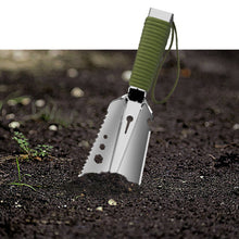 Load image into Gallery viewer, Shovel Multi-Purpose Garden Tools Stainless Steel Garden Shovel With Sawtooth Hex Wrench Ruler Digging Trowel Knife Bottle opene
