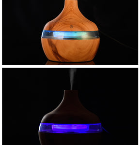 Electric Humidifier Essential Aroma Oil Diffuser Air Humidifier USB LED Light