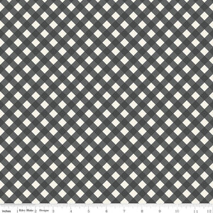 Gingham Garden Check Charcoal