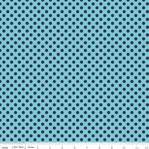 Tone on Tone Navy Small Dot
