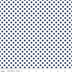 Navy on White Small Dot