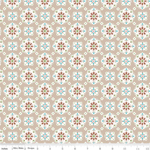 Granny Chic Wallpaper Brown