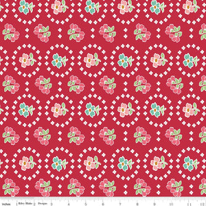 Granny Chic Curtains Red
