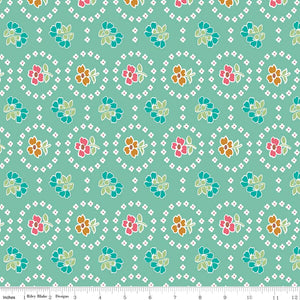 Granny Chic Curtains Teal