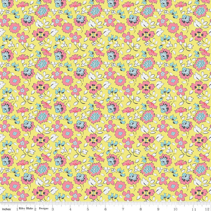 Paper Daisies Floral Yellow