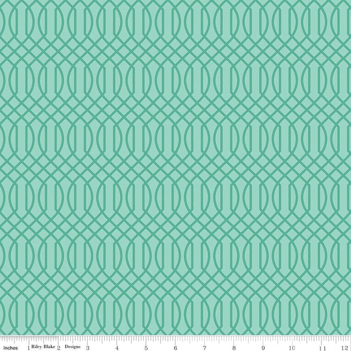 Flower Market Geometric Teal