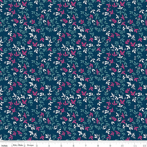 Garden Party Foliage Navy