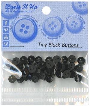 Tiny Black 35ct Button Pack