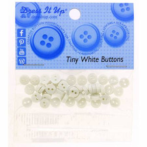 Tiny White Button Pack