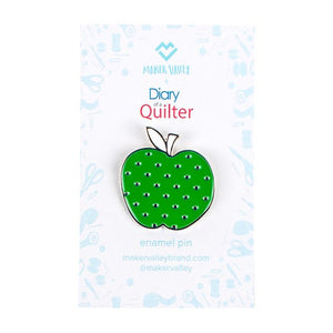 Diary of a Quilter Apple Enamel Pin