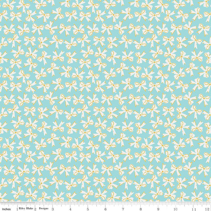 Milk & Honey Bows Aqua Sparkle