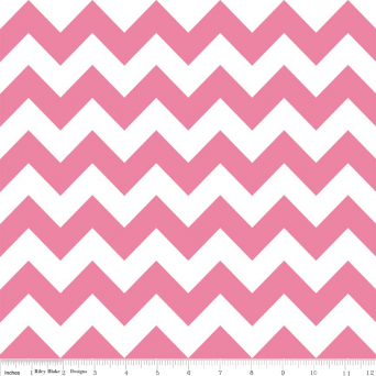 "Hot Pink Medium Chevron 108"" Wideback"