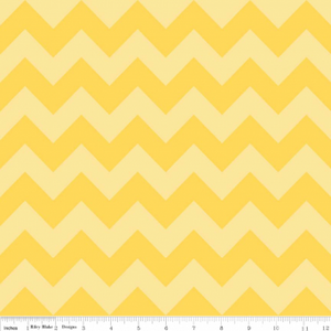 "Yellow Tone on Tone Chevron 108"" Wideback"