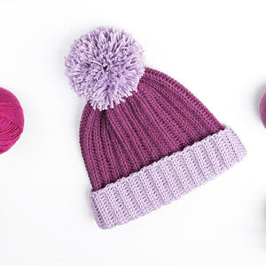Bobble Beanie Printed Pattern