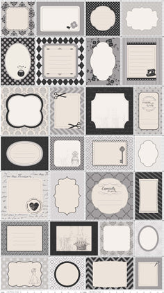 Quilt Labels - Gray