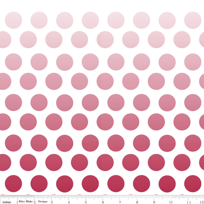 Ombre Dots Red