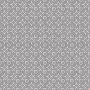 Mini Quatrefoil Gray