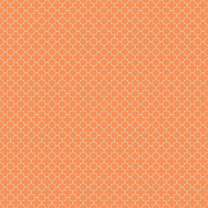 Mini Quatrefoil Orange
