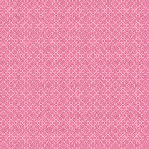 Mini Quatrefoil Hot Pink