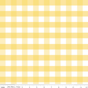 "1/2"" Large Gingham Yellow"