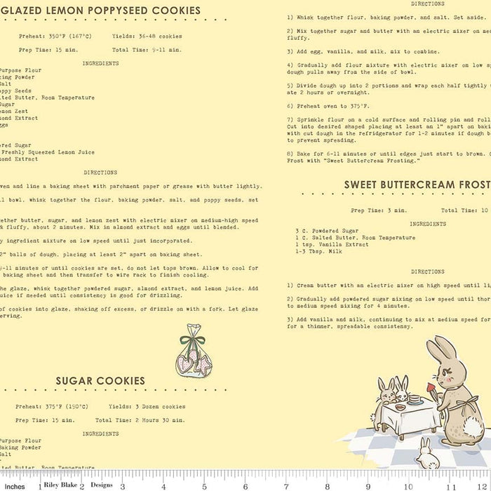 Bunnies & Cream Recipes Yellow