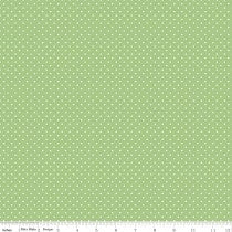 Swiss Dots White Dot on Green