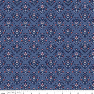 Midnight Rose Damask Navy