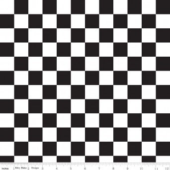 Sashing Stash Checkerboard Black