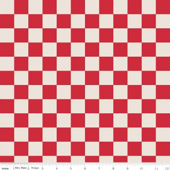 Sashing Stash Checkerboard Red