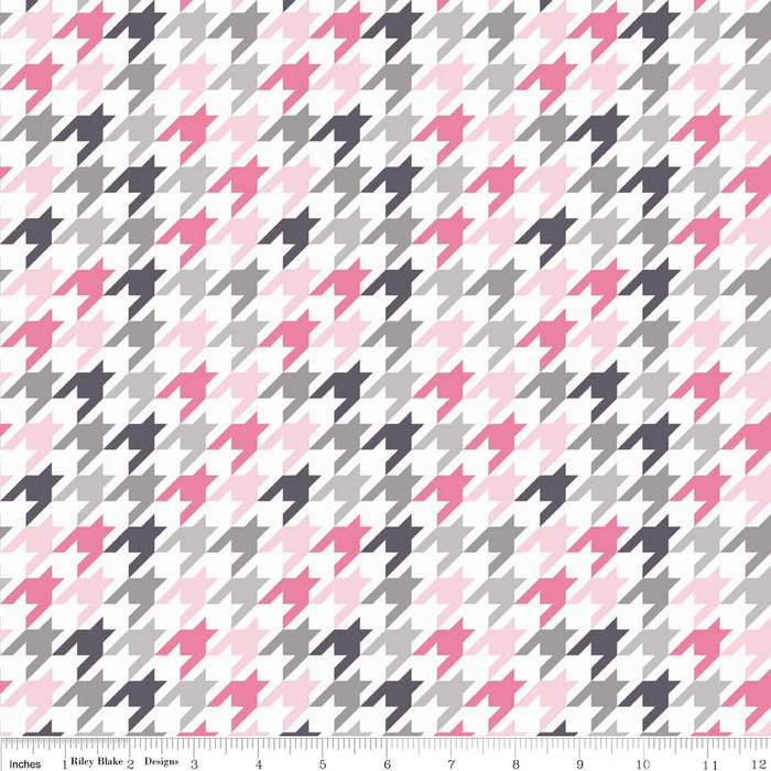 Houndstooth Pink Grey