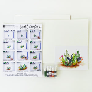 Desert Cactus Watercolour Kit