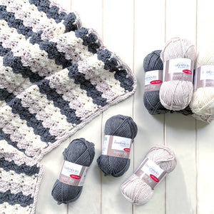 Chunky crochet blanket kit