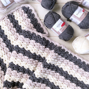 Chunky Crochet Blanket Pattern PDF Download
