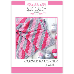 Corner to Corner Crochet Blanket Printed Pattern