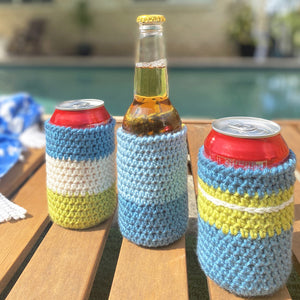 Crochet drinks holder / beer stubbie cooler FREE pattern