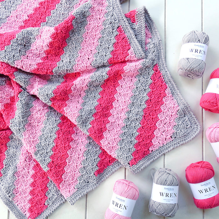 Corner to Corner Crochet Blanket Kit