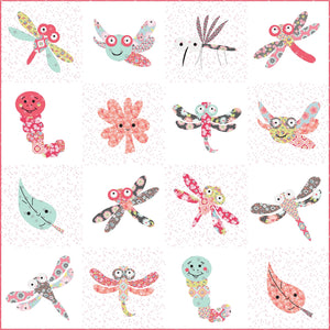 Damselfly Fabric Quilt Kit