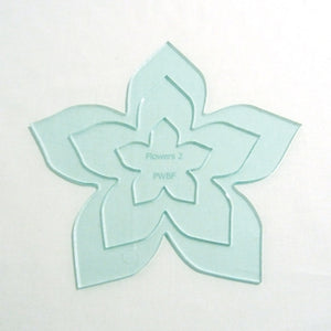 Applique Flower 2 - Set of 3