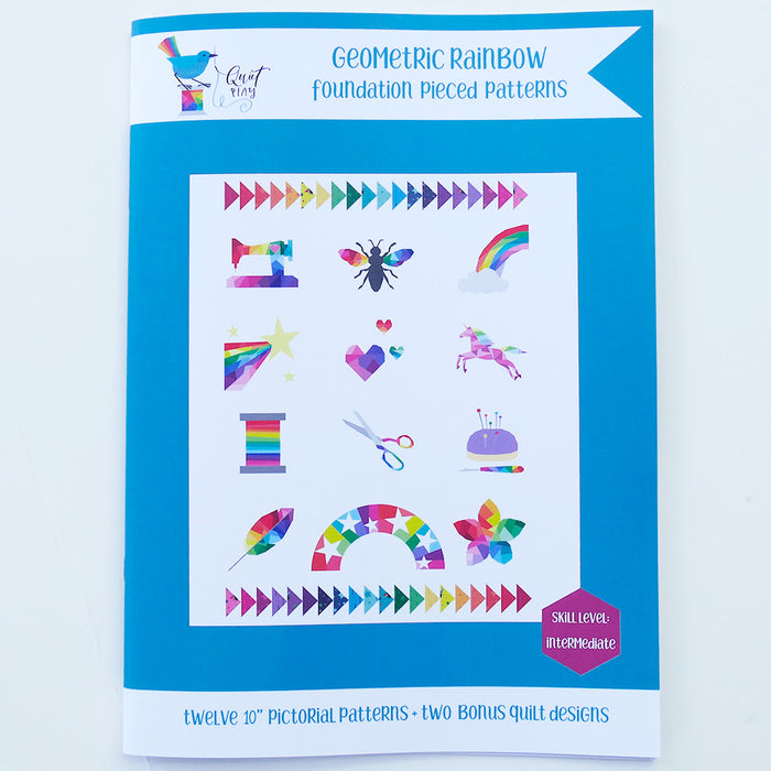 Geometric Rainbow Quilt Pattern booklet by Kristy Lea