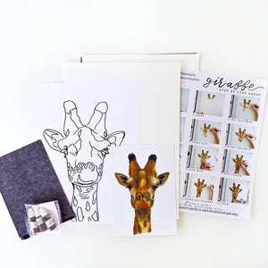 Giraffe Watercolour Kit