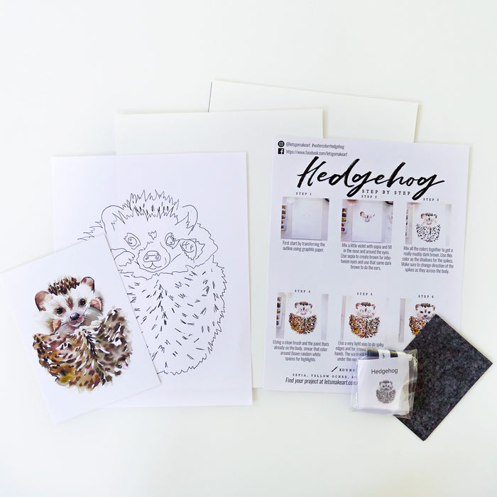 Hedgehog Watercolour Kit