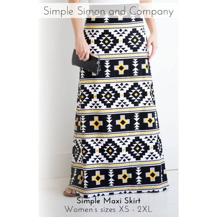 Simple Simon Knit Maxi Skirt Pattern