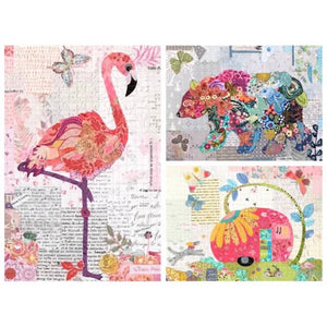 Teeny Tiny Collage #3 - Caravan-Flamingo-Bear