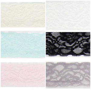 "2"" Elastic Lace - various colours"