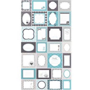 Quilt Labels - Blue