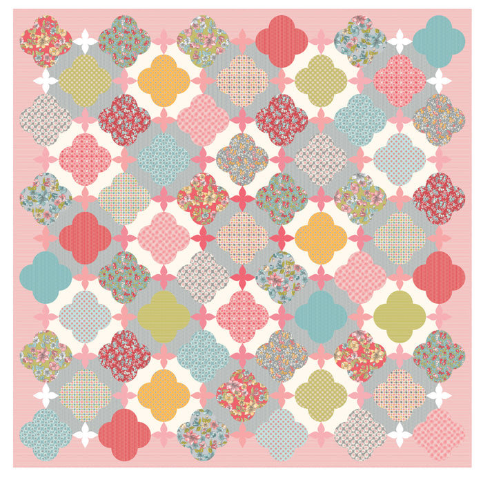 Lattice Rose Quilt Fabric Kit