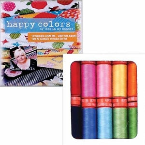 Lori Holt Happy Colors Aurifil Thread Pack